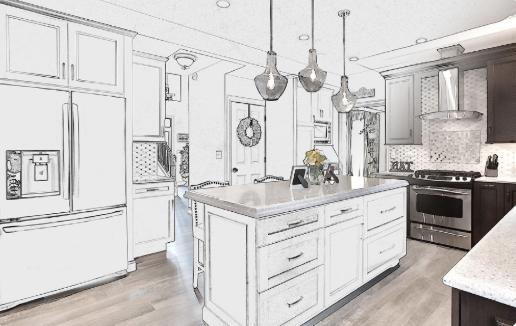 Masters Kitchen & Bath, remodeling, renovation, design, architecture, floor plan - image